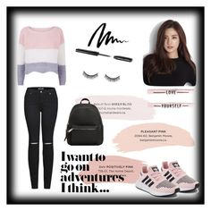 """Bez naslova #8"" by aldina-catovic ❤ liked on Polyvore featuring 2LUV, adidas, Bobbi Brown Cosmetics, Battington and MANGO"