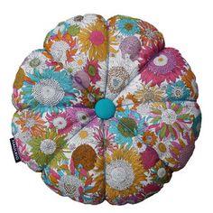 "Cute Handmade Cushions: Liberty Pillow Blomst 42 cm.   Lena Lorentzen, designer at ""Haulrig Design""."