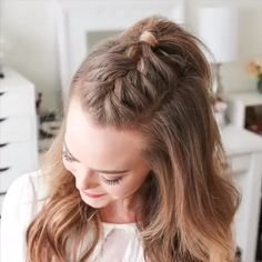 Braided Ponytail Hairstyles You Must Try! - Braided Ponytail Hairstyles You Must Try! Braided Ponytail Hairstyles You Must Try! Braided Ponytail Hairstyles, Easy Hairstyles For Long Hair, Box Braids Hairstyles, Girl Hairstyles, Mohawk Braid, 5 Braid, Braided Updo, Wedding Hairstyles, Hairstyles Videos