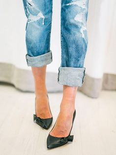 5289d66f The Pain-Free Way to Break In Your Shoes. Denim HeelsCuffed JeansShorts ...