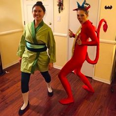 Mulan and Mushu | 29 Magical Costumes Every Disney Fan Will Want