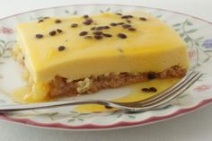 Pineapple Passion Fruit Tart - South African food recipe