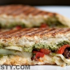 Vegetable Panini Sandwich by spicytasty