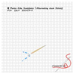Casa ERBA How to make an Italian Needlework Stitch Note Drawn Thread, Thread Work, Stitch 2, Cross Stitch, Embroidery Stitches, Hand Embroidery, Weaving Patterns, Needlepoint, Hand Sewing