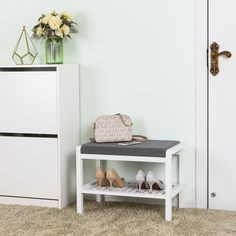 Small Shoe Bench, Small Storage Bench, Shoe Storage Bench Entryway, Shoe Rack Bench, Shoe Storage Seat, Coat And Shoe Storage, White Bench Entryway, Benches For Sale, Small Entryways