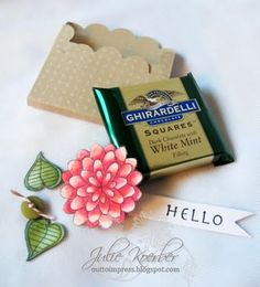 Chocolate pocket using scallop circle and other packaging ideas w/instructions