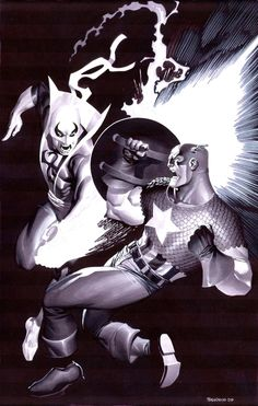 Iron Fist versus Captain America by Chris Stevens