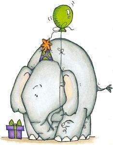 Elefante de cumpleaños