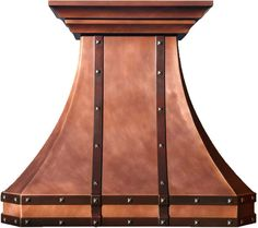 "Made To Order Copper Hood ""Victoria"" Model Victoria can be used for domestic gas or electric ranges in high ceiling kitchens.  #mycustommade"