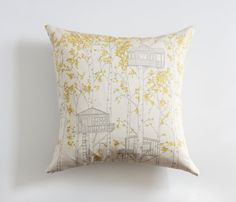 Etsy listing at http://www.etsy.com/listing/83003894/yellow-tree-house-pillow-cover