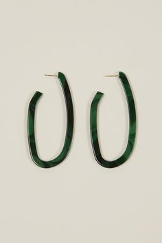 Maya crooked hoop earrings by Rachel Comey