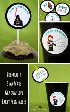 Star Wars Graduation Party Printables. LivingLocurto.com ~ Limited time only