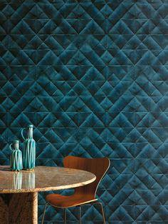 Élitis wallpaper in teal * Wonderwall * The Inner Interiorista