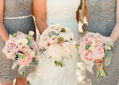Hamptons Backyard Wedding by, Lindsay Madden Photography // dress by, Pronovias // bouquets by, Mattituck Florist