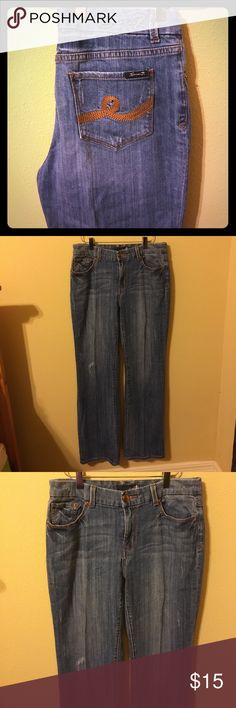 """Seven7 bootcut jeans Great jeans! Love the back pockets! Waist across the front is 16"""". Inseam is 31"""" Seven7 Jeans Boot Cut"""