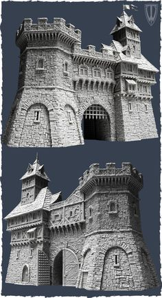 Tabletop World's newest release the Town Gate!