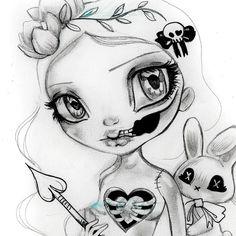 Original paintings, drawings and limited edition art sales from Fantasy Artist Natasha Wescoat Pencil Art Drawings, Art Drawings Sketches, Tattoo Drawings, Cute Drawings, Tattoos, Shadowhunter Tattoo, Voodoo Doll Tattoo, Gothic Drawings, Gothic Fantasy Art