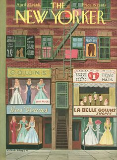 The New Yorker - Saturday, April 27, 1946 - Issue # 1106 - Vol. 22 - N° 11 - Cover by : Witold Gordon