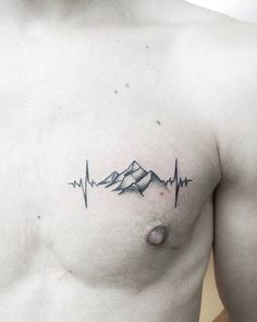 Heartbeat Mountain Tattoo by mericris