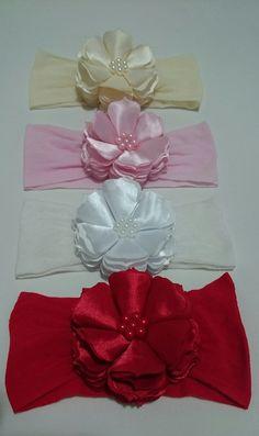 Fabric Flower Tutorial, Bow Tutorial, Ribbon Hair Bows, Diy Hair Bows, Baby Bows, Baby Headbands, Diy Flowers, Fabric Flowers, Shabby Chic Crafts