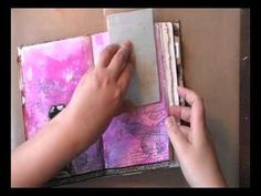 I just love watching her work.  Im not really here ... art journaling