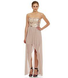 b808f2497b0 Jump Strapless Sequin Hi-Low Dress