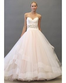 Like the bottom; New wedding dresses by Lazaro from the designers Spring 2013 bridal runway collection.