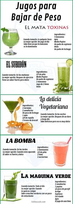 Look for juicing recipes to detox your body? Try these fresh and simple juice and smoothie recipes made from whole fruits and vegetables! Look for juicing recipes to d Bebidas Detox, Weight Loss Meals, Weight Loss Workout Plan, Weight Lifting, Healthy Detox, Healthy Drinks, Easy Detox, Healthy Foods, Vegan Detox