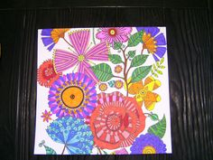 gekleurde bloemen zelf gemaakt