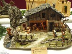 Christmas Crib Ideas, Christmas Wood, Simple Christmas, Christmas Decorations, Christmas Village Sets, Christmas Nativity Scene, Nativity Scenes, Miniature Crafts, Miniature Houses