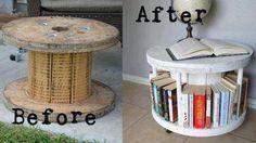 wheeled bookshelf end table