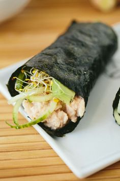 Homemade sushi is NOT as hard as it looks. Wrap up a Cucumber-Avocado Tuna Hand Roll tonight for dinner! Recipe originally featured on Inspiralized and written by Alissandra Maffucci, who is part of POPSUGAR Select Food.