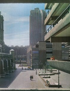 The Barbican Estate, by Chamerlin, Powell & Bon for the City & Corporation of London. As photographed for the August 1973 issue of Architectural Review.