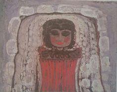 Mustafa Ayataç: Kompozisyon. Tuval uzerine yagliboya. Ozel koleksiyon
