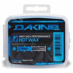 DAKINE Indy Cake Wax - 4.5oz Cold, One Size by Dakine. $13.49. You know that old guy in town who filled up his vintage muscle car with jet fuel? Your board is the car and the DAKINE Indy Cake Wax is the jet fuel. This fast-as-hell wax has a high flourine content that glides like none-other and applies easily in three steps. Just iron it on (in a well ventilated area), scrape it off, and buff it out ... then hold on to the family jewels because things are about to get fast.Pr...