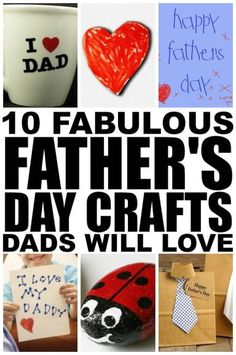 If you're looking for fathers day crafts to keep your kids from climbing the walls now that school is out, check out these adorable fathers day crafts for kids. They are great boredom busters and make great keepsakes for grandfathers!