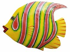 Hand-chiseled and Painted Tropical Metal Art Wall Decor Fish * Details can be found by clicking on the image. (This is an affiliate link) Colorful Fish, Tropical Fish, Fish Wall Decor, Wall Art Decor, Cupcake Clipart, Fish Bathroom, Fish Rocks, Cartoon Fish, Cool Fish
