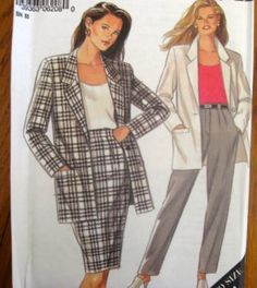 SIMPLICITY New Look SEWING PATTERN - 6208 - 12-24 - 3 PC SUIT JKT,PTS, SKIRT