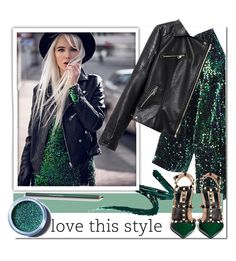 """""""Love this style"""" by stylemoi-offical ❤ liked on Polyvore featuring Manic Panic, Lancôme, Lime Crime and Valentino"""