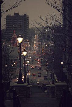 Night in city