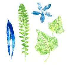 Paint with leaves! :-)