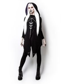 Witchy Moon Witchcraft Spells oversized Hood asymmetrical Hoodie Jacket @ skelapparel