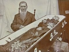Husband with deceased wife.