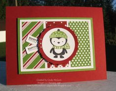 No Peeking Penguin by cjoy - Cards and Paper Crafts at Splitcoaststampers