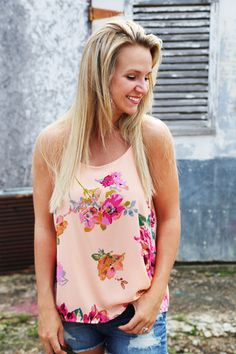 Floral Soul Tank - Razor back tank and love the summer colors!