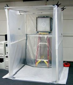 How to Create a Paint Booth in Your Garage. A paint booth can help you create clean and smooth paint jobs for your projects without getting paint all over everything. To build a booth in your garage, try creating a frame out of PVC pipe,. Garage Tools, Garage Shop, Garage House, Garage Workshop, Garage Paint, Garage Closet, Car Garage, Dream Garage, Tools Tools