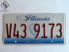 Placa - Matrícula metálica original de USA - Illinois V43 9173