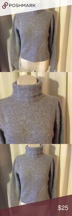 Selling this Vtg Lambswool and angora soft gray turtleneck on Poshmark! My username is: patriciamildred. #shopmycloset #poshmark #fashion #shopping #style #forsale #Vintage #Sweaters