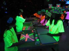"""Glow in the dark canvas for everyone to sign. Photo 2 of Glow Slumber Party / Birthday """"L's & M's Birthday Party"""" Slumber Party Birthday, Neon Birthday, 13th Birthday Parties, Sleepover Party, Slumber Parties, 9th Birthday, Girl Birthday, Birthday Ideas, Glow In Dark Party"""