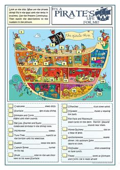 IT'S A PIRATE'S LIFE FOR ME worksheet - Free ESL printable worksheets made by teachers